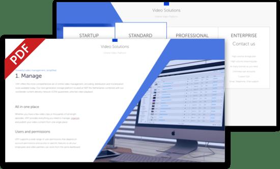 VIXY pricing sheet online video platform