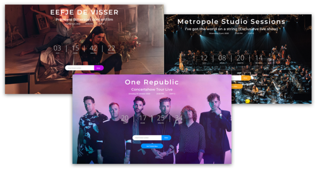 Live streaming examples - vixy